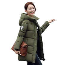 70% duck down 2016 new winter Down jacket coat Girls long section of a large yard thick down coat female military dress jacket