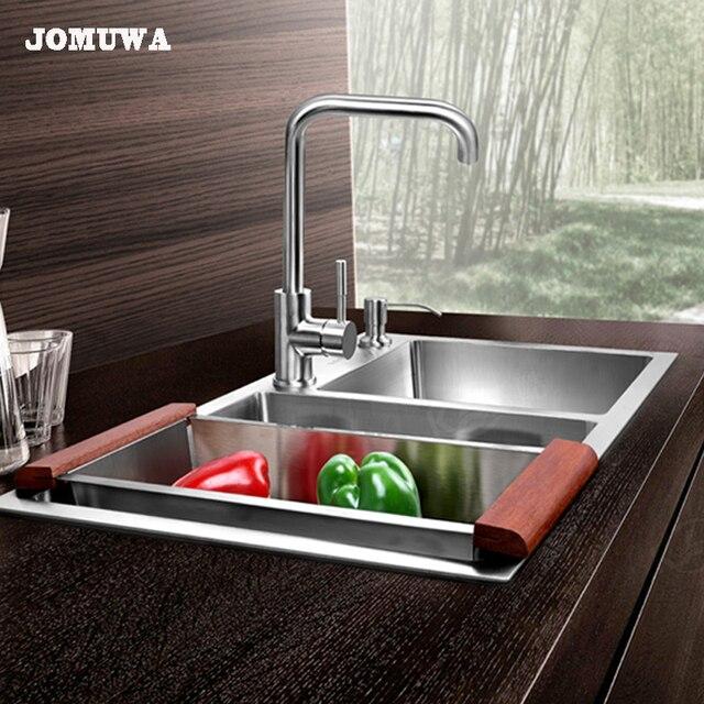JOMUWA Spazzolato Lavello Da Cucina Set, 304 Gruppo di Scarico In ...