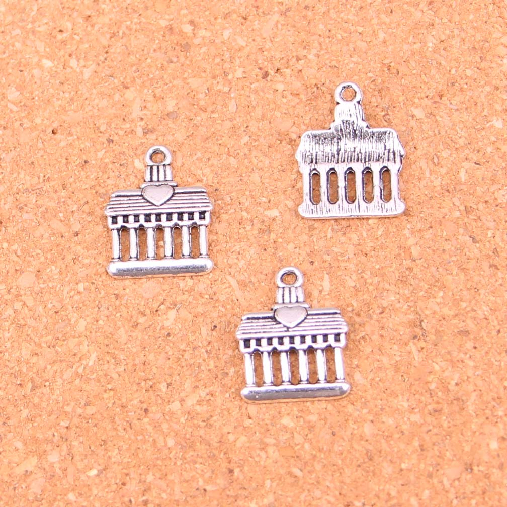 30pcs Tibetan Silver Greek temple Charms for Jewelry Making 18*14mm