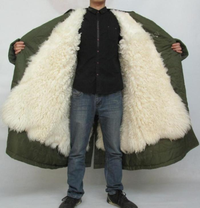 winter thermal thickening natural real sheepskin wool fur