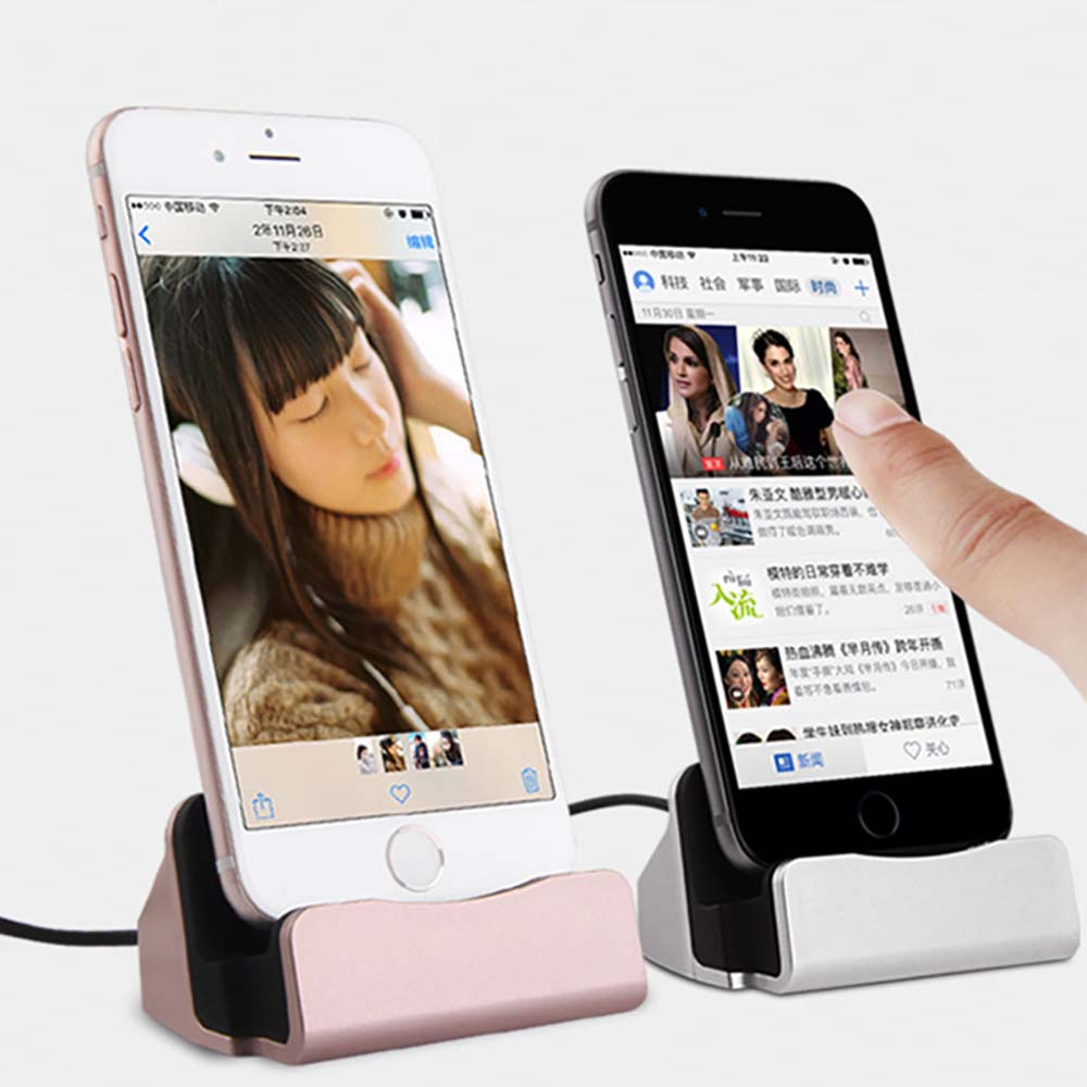 Aerdu Dock-Station Charger-Base Stand-Holder Cradle iPhone X for 8-7/6-plus/Usb-cable/..