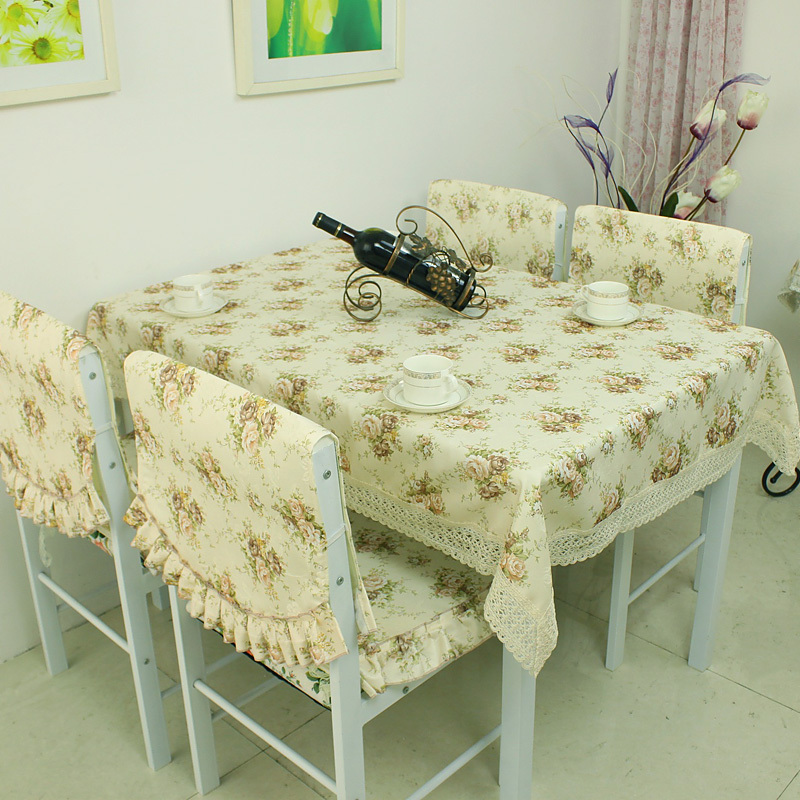 Rustic home textile table cloth tablecloth dining table cloth table cloth chair cover cushion simple and elegant