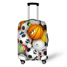 Купить с кэшбэком Football Basketball Golf Soccer Patterns Luggage Elastic Suitcase Protective Covers for 18-32 inch Trunk Case luggage Cover Bag