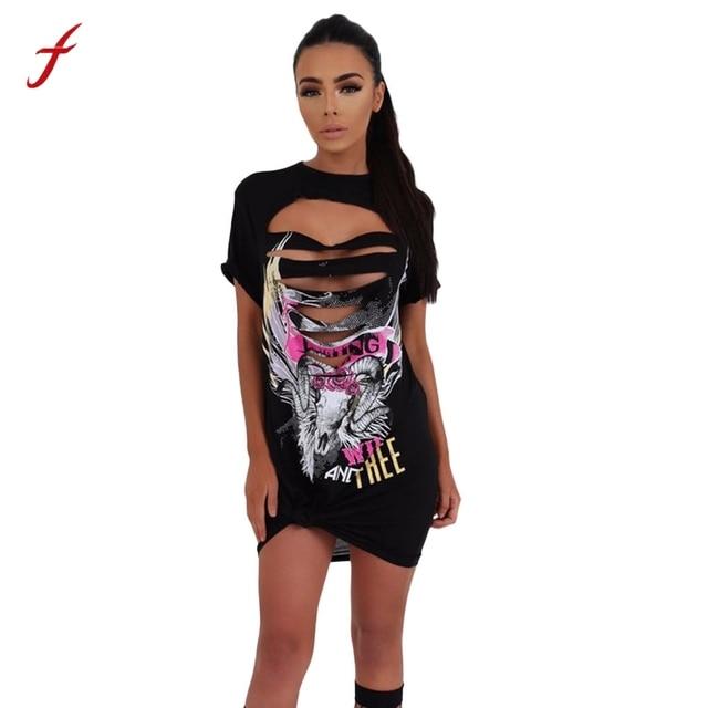 46517b233 Mulheres Estilo de Rock Do Vintage das senhoras vestidos de verão casual  Mini Vestido de Festa
