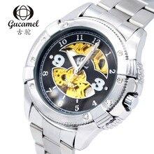 48 мм Gucamel диаметр диска высокого класса моды для мужчин бизнес часы полые автоматические механические часы алмаз разделе 30 м водонепроницаемый