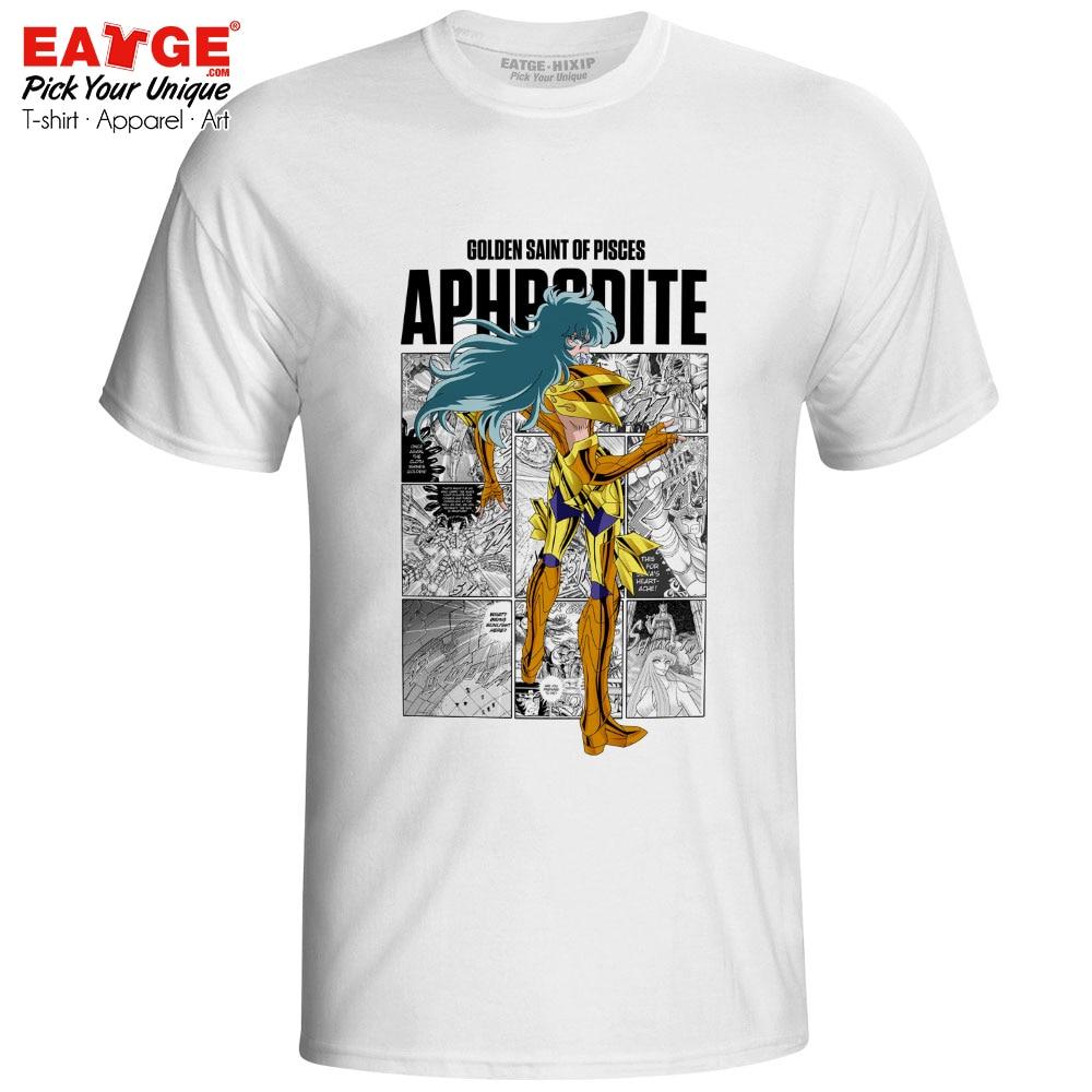 Pisces Aphrodite T Shirt Gold Saints Anime Saint Seiya Knights Of The Zodiac Design Print T-shirt Novelty Fashion Unisex Tee
