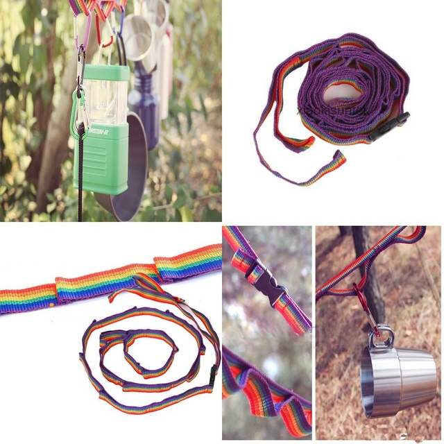 1Pc Multipurpose Colorful Tent Hang Lanyard Tent Rope Cord for Outdoor Camping Hiking Accessories