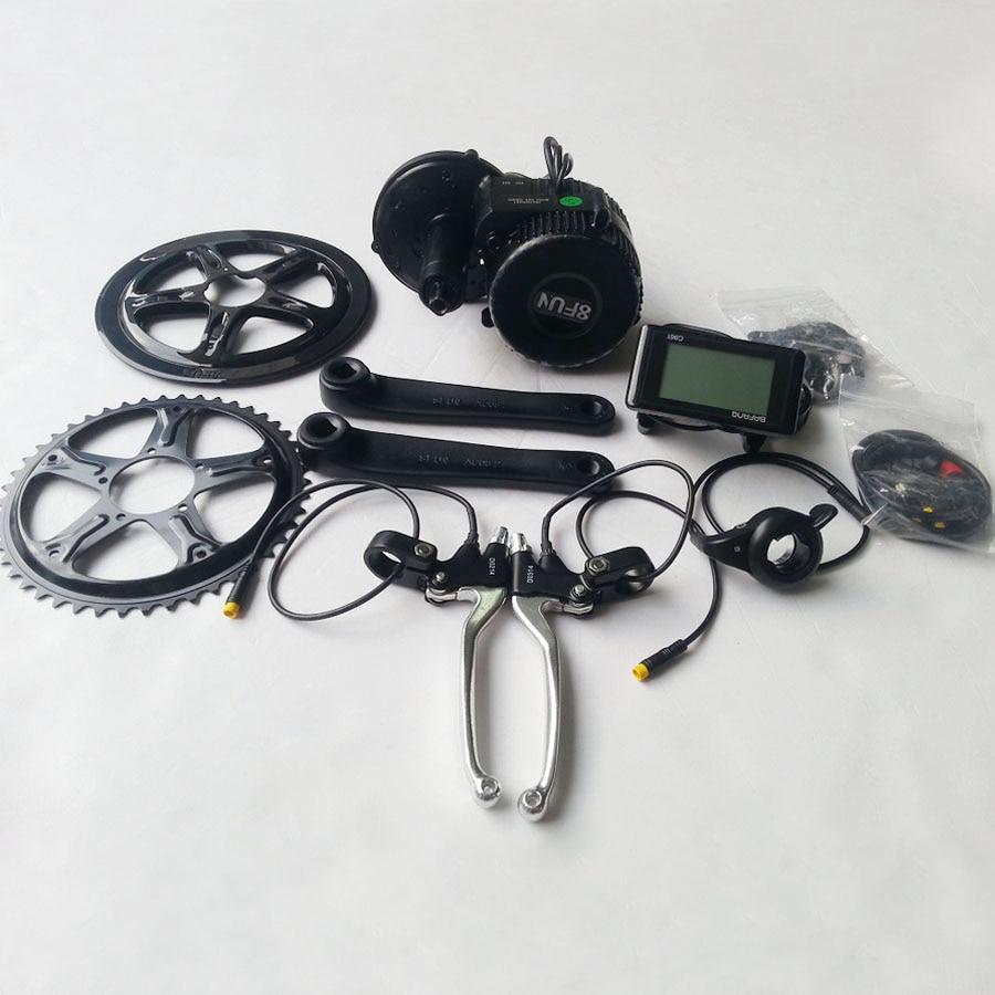 все цены на 2016 new 48v 750w 8fun/bafang motor C961 LCD BBS-02 46T for the controller crank Motor eletric bicycles trike ebike kits