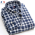 Langmeng free shipping flannel casual shirt hot brand style high quality new spring autumn men plaid shirts man slim dress shirt
