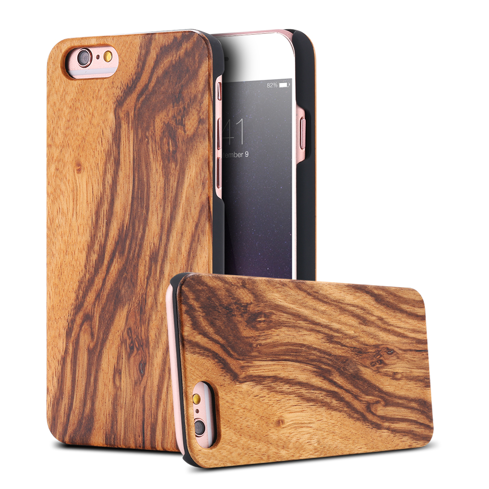 best authentic 2141e e511b Geniune Bamboo Iphone 6 6S Plus Natural Wood Cover For Iphone 5 5S SE X 7 8  Plus 6 6S Hard Protector Capa