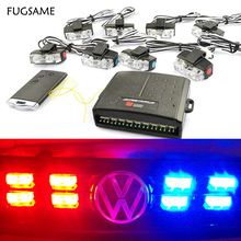 цена на Original 48W Wireless Control High-Power Super Bright Car Strobe Flash Led Warning Light Working Light DRL Strobe Police Fireman