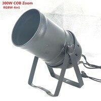 Işıklar ve Aydınlatma'ten Sahne Aydınlatması Efekti'de LED 300 W COB LED Par Işık Zoom 5 50 derece Sahne Disko Işık RGBW 4in1 LED Par 64
