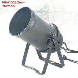 LED 300W COB luz Par LED Zoom 5-50 grados etapa Disco luz RGBW 4in1 LED Par 64