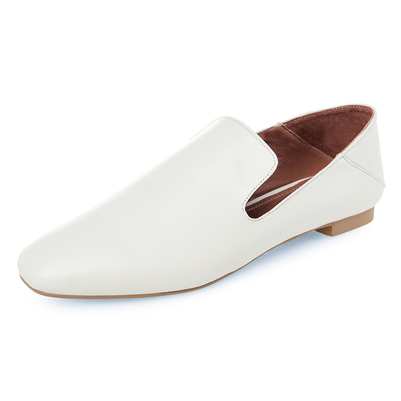 ФОТО Casual shoes for Women Pure white Woman flats Genuine leather 2 cm heels shoes Size 34-39 Fashion sexy ladies School girls shoes