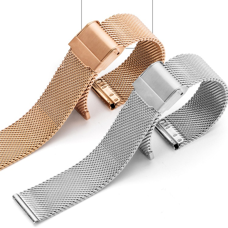 18mm 20mm 22mm 24mm Universal Stainless Steel Metal Watch Band Strap Black Rose Gold Silver Milanese Watchband For DW Watch top quality new stainless steel strap 18mm 13mm flat straight end metal bracelet watch band silver gold watchband for brand