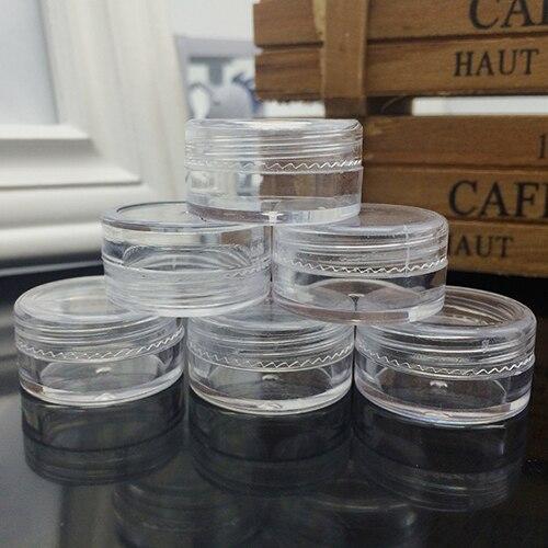 50 Pieces Portable Cosmetic Sample Containers 5 Gram Plastic Cream Pot Jars