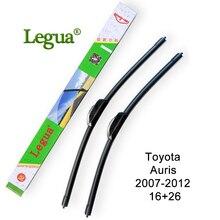 Legua car windscreen wiper blade for Toyota Auris,2007-2012,16″+26″,car wiper rubber,Soft Frameless Bracketless