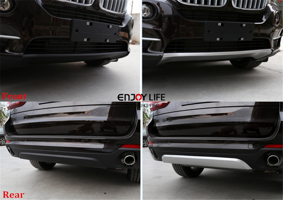 ABS Front Rear Bumper Protector Guard Skid Plate For BMW X5 F15 2014-2015