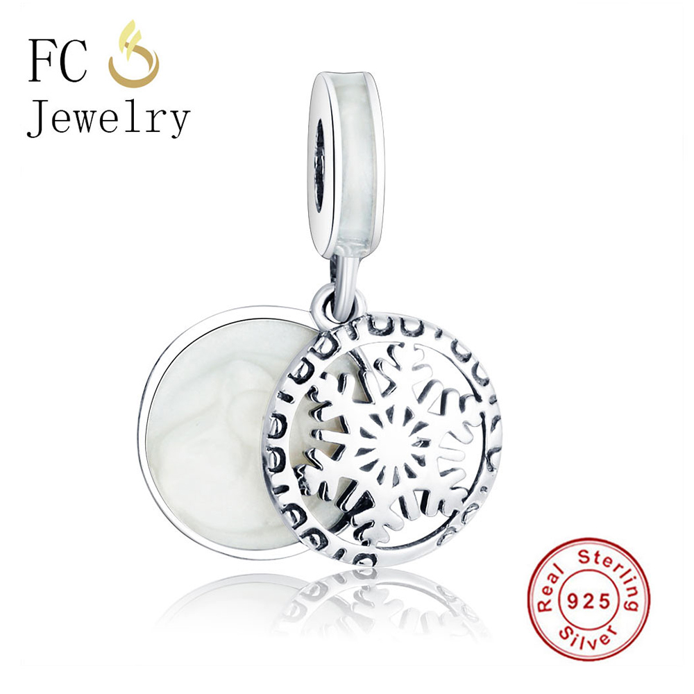 FC Jewelry 925 Sterling Silver Beads European Snow Pendant Charm Fits Original Pandora Charms Bracelets & Bangles Necklace DIY