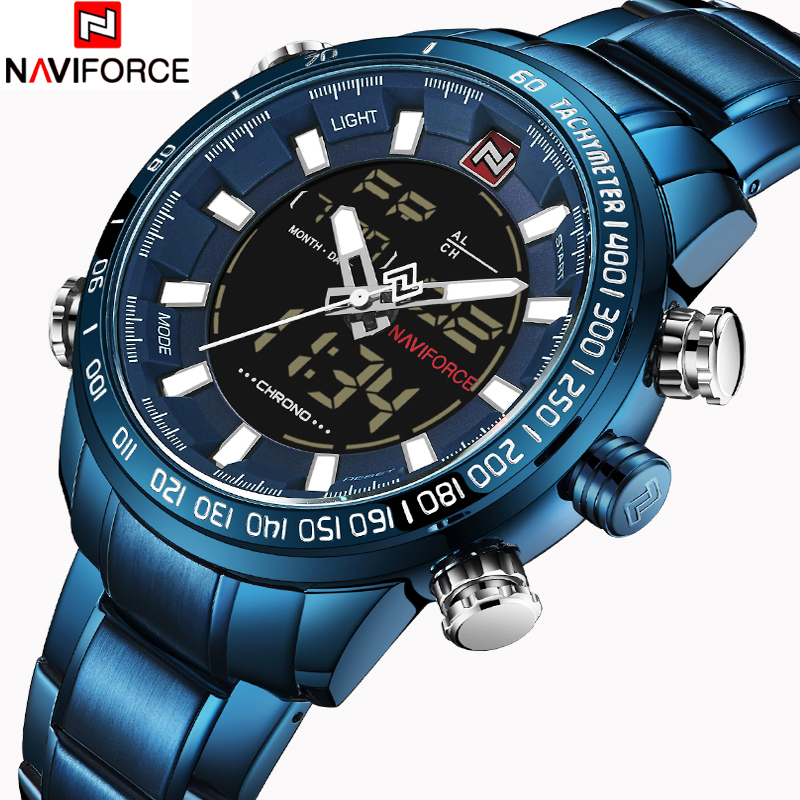 NAVIFORCE Mens Quartz Analog Watch Luxury Fashion Sport Wristwatch Waterproof Stainless Male Watches Clock Relogio Masculino ochstin luxury lover s watches waterproof luxury brand stainless steel quartz watch relogio masculino clock gold male wristwatch