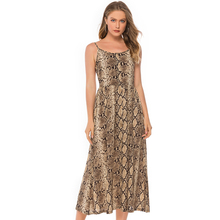 Sexy Strapless Snake Print Women Dress Long Sleeveless Backless Female Dress Summer Style Fashion Party Casual Beach Clothing sexy strapless ruffles women dress short sleeveless backless trumpet female dress 2019 summer style casual fashion beach clothes