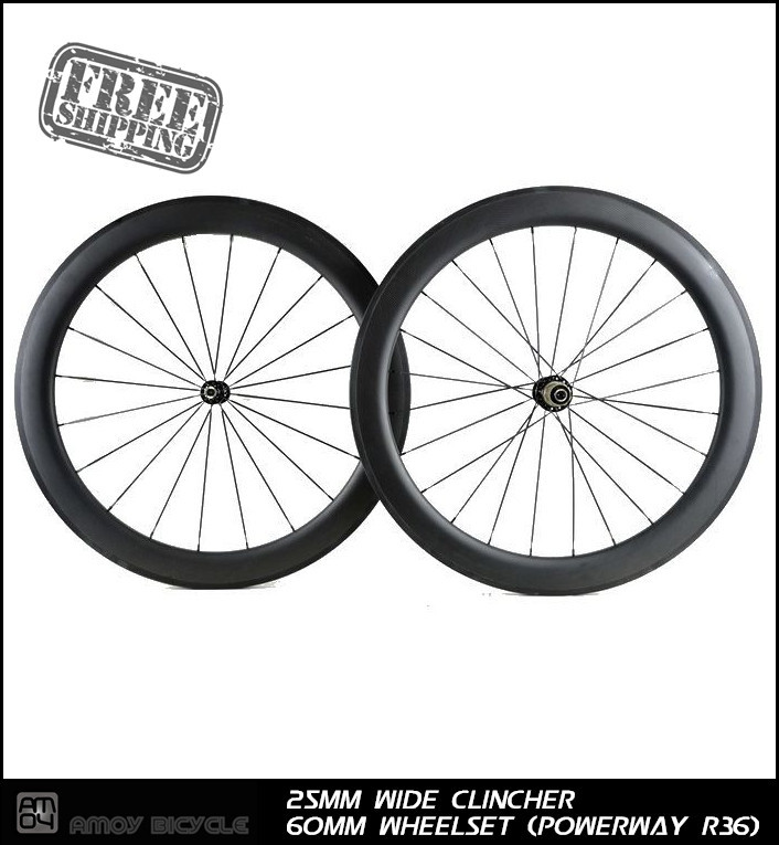 Free shipping 700C 25mm wide 60mm clincher V brake carbon wheelsets with R36 carbon hub glossy or matte road bicycle wheels simple creative cartoon car and dog pattern pillow case without pillow inner