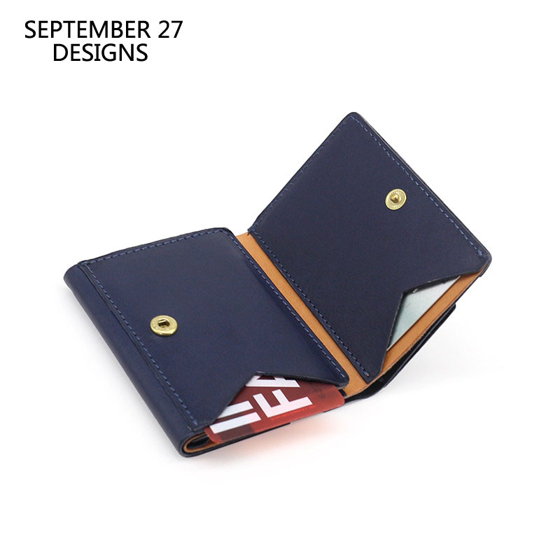 New Short Wallet Unisex First Layer Cow Leather Top-end Three-fold Wallets Small Simple Credit Card Purses Money Bag Hasp Clutch