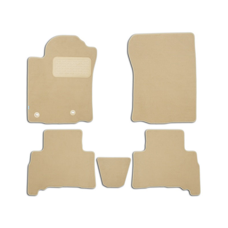 Mats in salon Klever Premium For TOYOTA Land Cruiser 150, 5 seats, 2013-2015, 2015-> внед... 5 PCs (textile, beige) mats in salon klever premium for toyota highlander 2014 внед 5 pcs textile