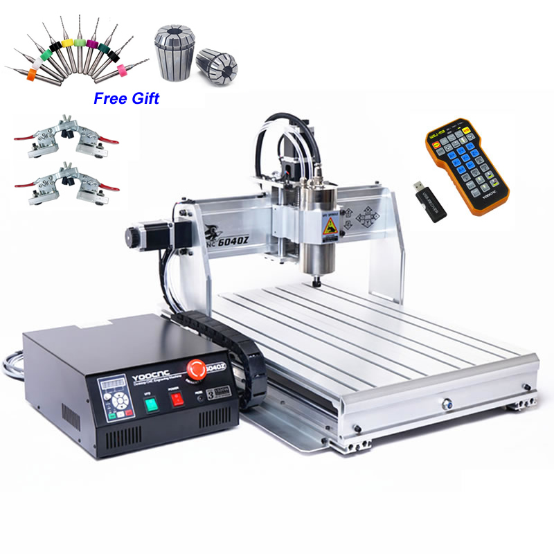 CNC 6040Z USB 3 axis 1.5KW 2.2KW Wood Router CNC machine with Limit Switch Metal Stone Drilling Milling Machine stone metal wood 800w cnc 6040 3 axis cnc router engraver engraving drilling and milling machine