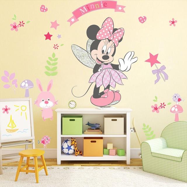 DIY Minnie Mouse Wandaufkleber Vinyl Kunst PVC Cartoon wandtattoo ...