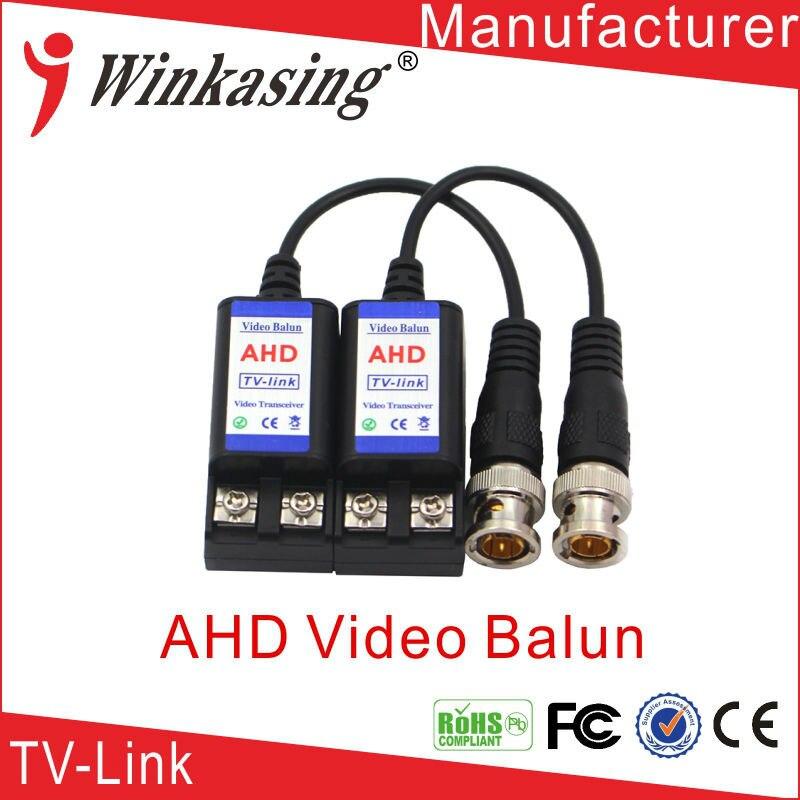 Video Balun 1CH Passive utp cat5 Transmiter Transceiver single channel passive video balun grey silver 2 pcs