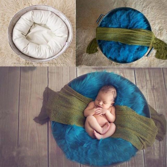 4 Pçs/set Colorido Algodão Moda Bebê Travesseiro Forma Bebê Recém-nascido Fotografia Props Fotografia Props Bebê Recém-nascido Roupas