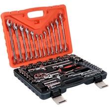"""61 piezas par llave herramienta de trinquete llaves carraca 1/4 """"Kits para coche mano hembra un juego"""