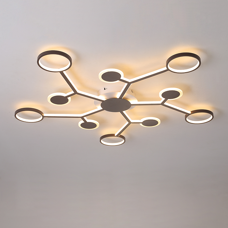 High end led Ceiling Lights Brown Creative Aluminum Nordic Lamp For living room lights Bedroom Ceiling