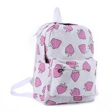 DIDA Медведь Женская полотняная рюкзаки фрукты с клубничным принтом большой школьные сумки для девочек мешок рюкзак Bolsas Mochilas Femininas