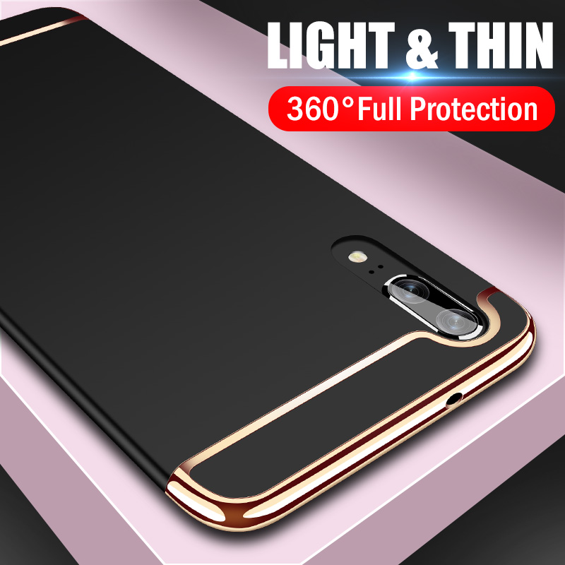 360 Luxury Plating Phone Case For Huawei P20 Lite P20 Pro Full Hard Protective Cover For Huawei P10 Lite P10 Plus Case Shell