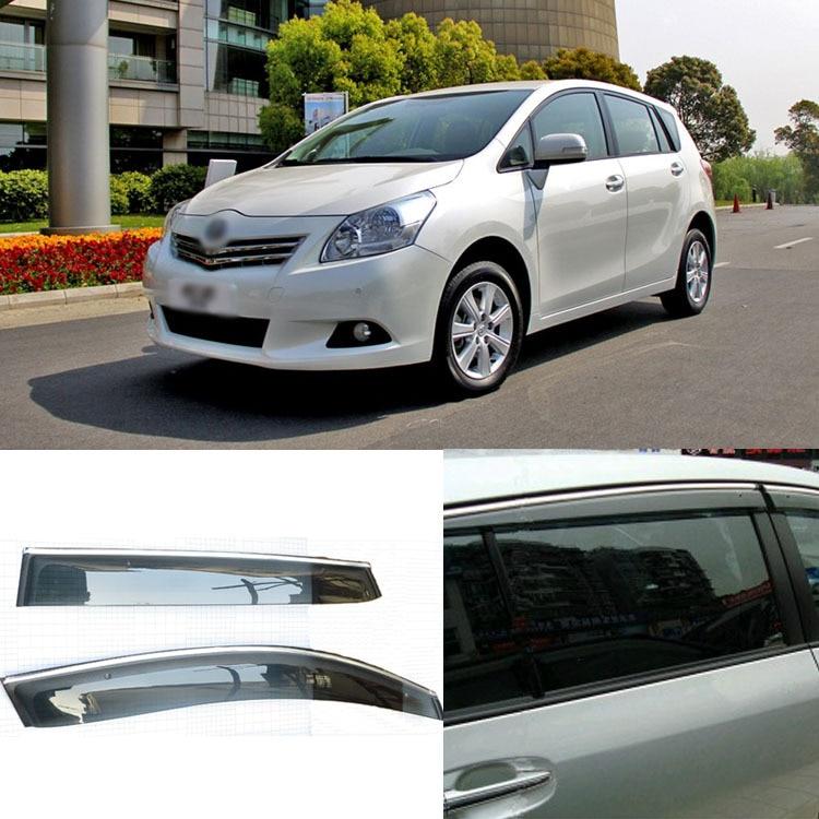 Shield Toyota Verso Door-Sun-Visor Side-Windows 4pcs For EZ Deflectors Blade Jinke