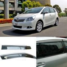 Jinke 4 pcs Lâmina Lateral Do Windows Defletores Porta Viseira Protetor Para A Toyota Verso EZ 2011-2014