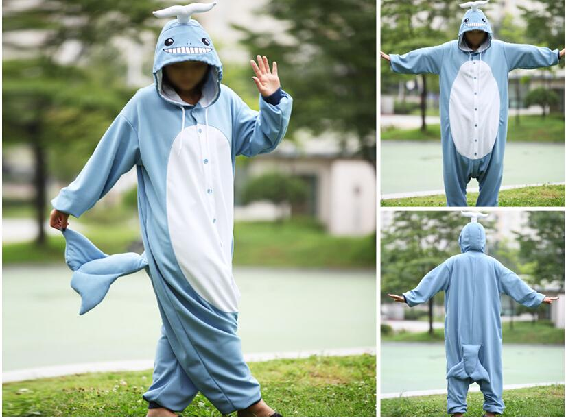 NEW Ladies Lovely Blue Whale Onesies Cute Whale Costumes Smiling Face Girls Popular Cosplay Costumes Funny Performance Onesies