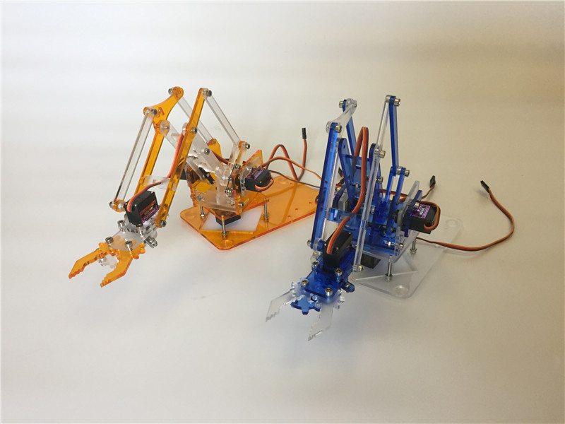 Colorful robotic arm kit, meArm manipulator (excluding steering gear) stearns 0924 re arm kit