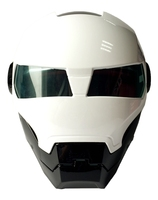 Black White MASEI 610 IRONMAN Vintage Motorcycle Helmet Motor Bike Casco Casque 100 Original