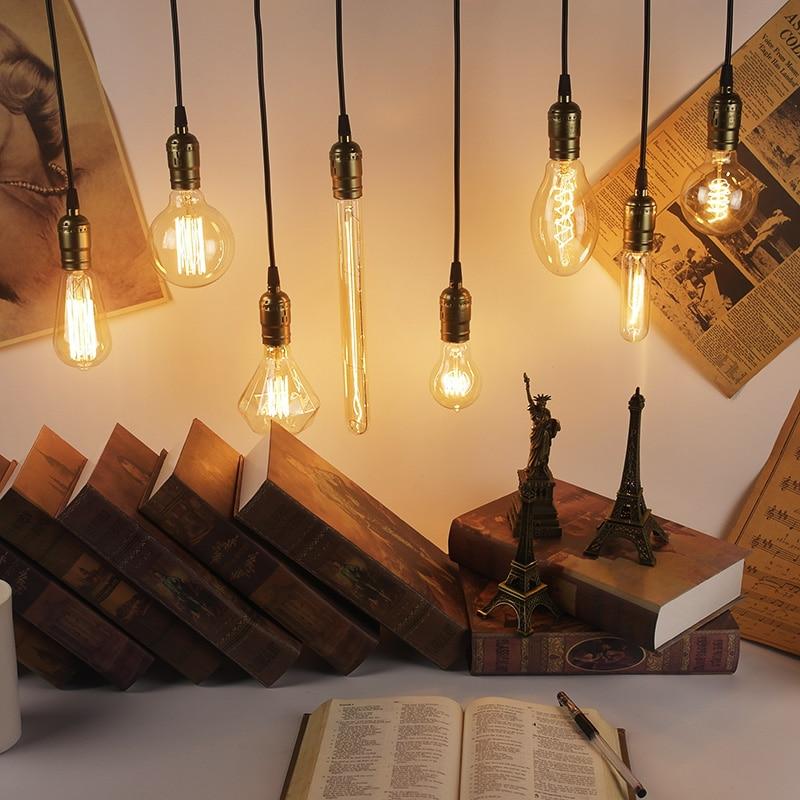 Edison Light Bulb E27 40W 220V A19 A60 ST64 T10 T45 G80 G95 G125 Filament Ampoule Vintage Retro Incandescent Bulb Edison Lamp