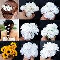 5Pcs Wedding Hair Accessories Flower Rhinestone Hair Pin Beauty Hair Clip Women Bridal Hair Accessories Jewelry VBY15 P0.41