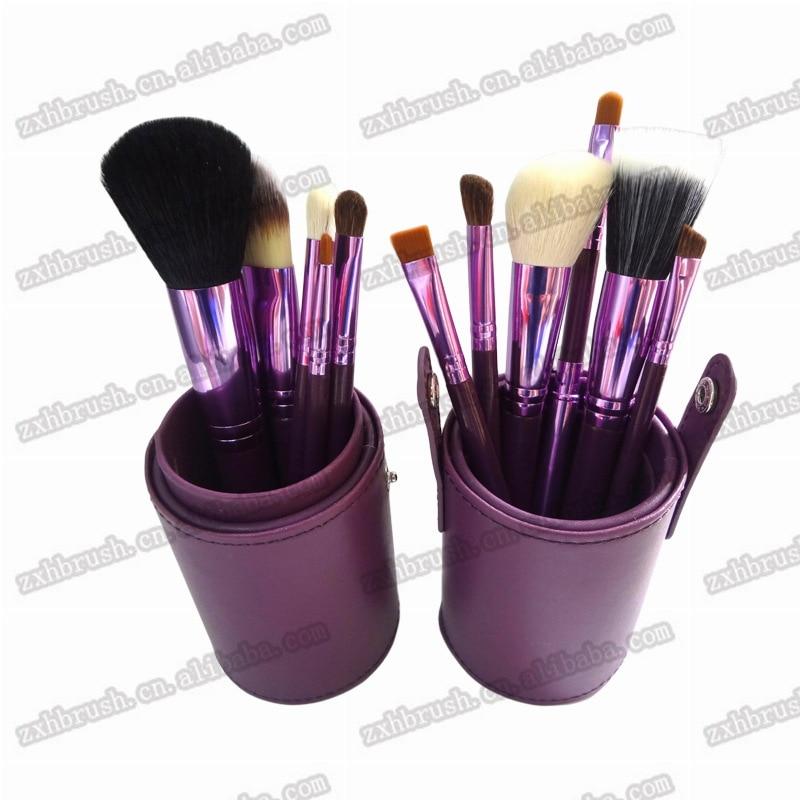 Professional 12Pcs Makeup Brushes Set Eye Shadow Powder Blush Foundation Cosmetic Brush Set   With Bottle