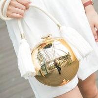 UKQLING Brand Ball Round Bag Minaudiere Evening Hand Bag Tote Purse Handbag Messenger Bags Lady Sac