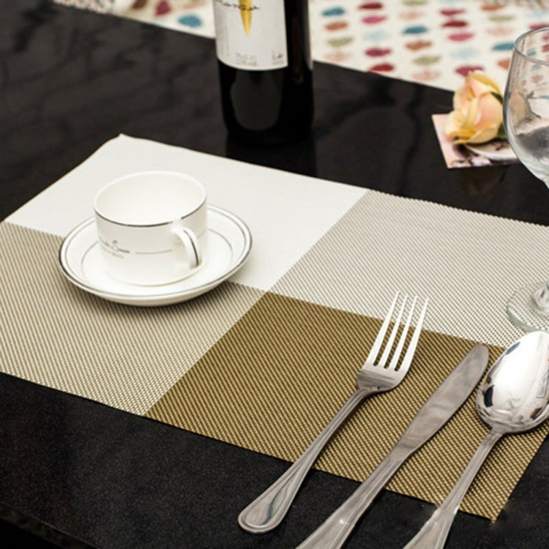Dining Table Placemat Kitchen Tool PVC Tableware Pad Coaster Coffee Tea Place Mat Europe Style New