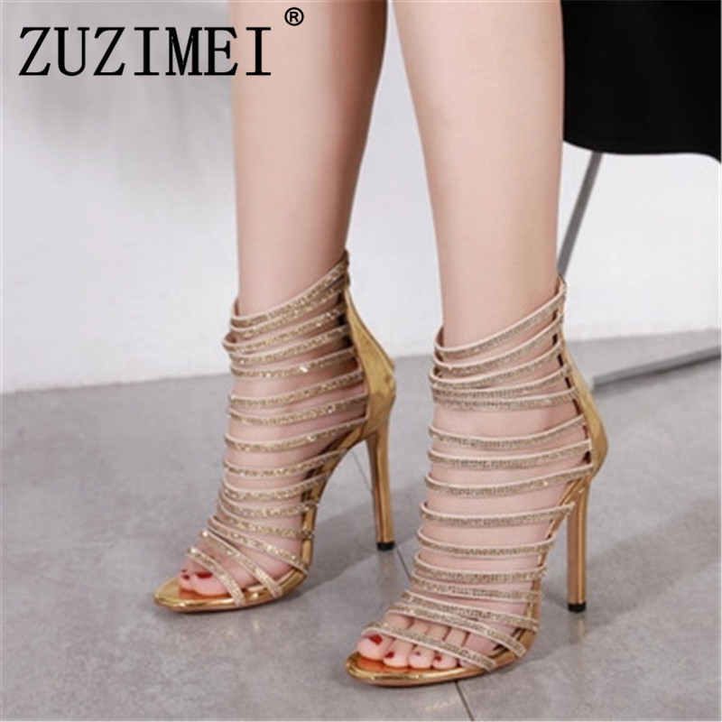 4c0c692f2538 Buy gold caged heels and get free shipping on AliExpress.com