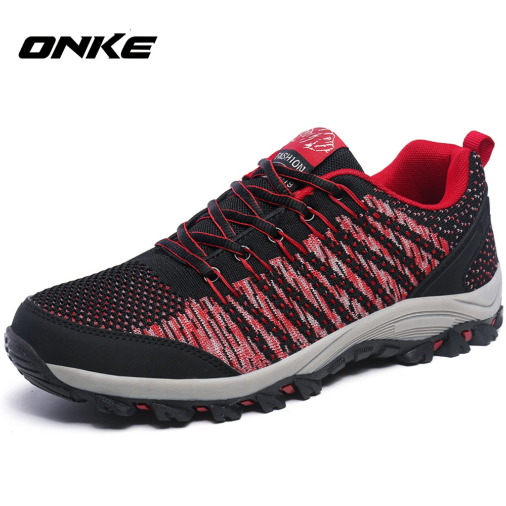Onke New Design Men Hiking Shoes Breathable Sport Shoes