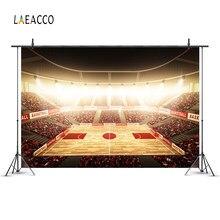 78efc5a73d Laeacco fondos de fotos NBA cancha de baloncesto estadio Spotlight Fans  empapelado patrón retrato telón de