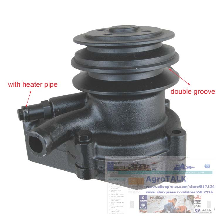 Jiangdong 495T the water pump (with heater pipe) for tractor, part number: jiangdong engine jd495t for tractor like jinma luzhong etc the water pump part number